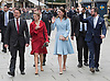 11.05.2017; Luxembourg: KATE MIDDLETON, CROWN PRINCESS STEPHANIE AND CROWN PRINCE GUILLAUME OF LUXEMBOURG leave the Grand Ducal Palace.<br />