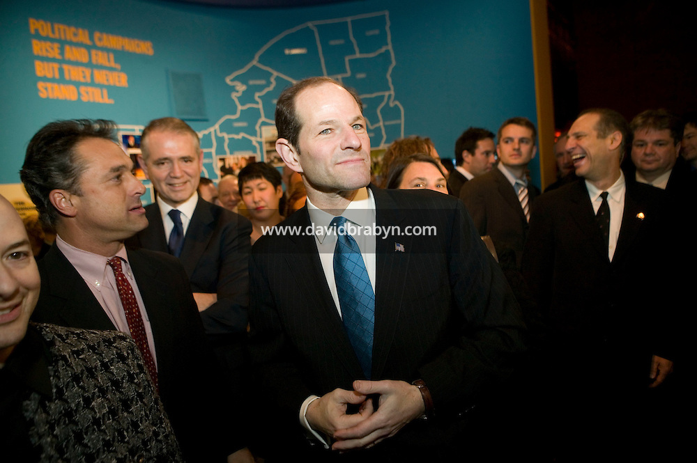 "11 January 2007 - New York City, NY - New York State Governor Eliot Spitzer attends the opening of the ""Making of a Governor"" photo exhibit on his 2006 campaign at Grand Central Station in New York CIty, USA, 11 January 2007."