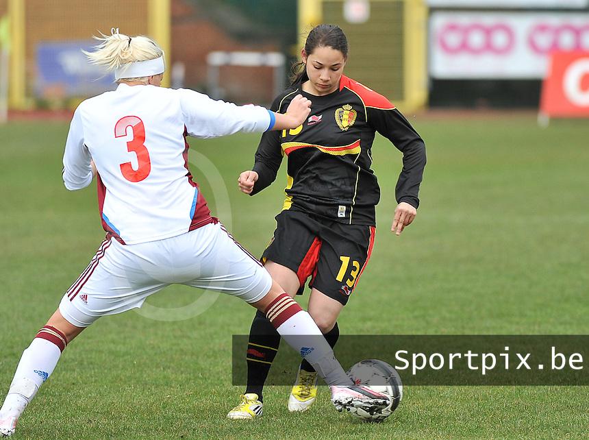 Russia U19 - Belgium U19 : Lola Wajnblum.foto DAVID CATRY / Nikonpro.be