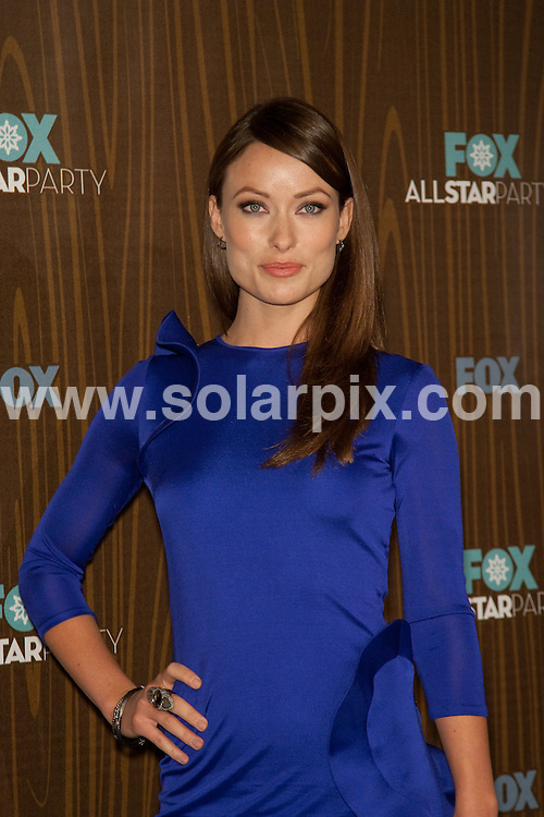 **ALL ROUND PICTURES FROM SOLARPIX.COM**.**SYNDICATION RIGHTS FOR UK, AUSTRALIA, DENMARK, PORTUGAL, S. AFRICA, SPAIN & DUBAI (U.A.E) ONLY**.Arrivals for the Fox All-Star Party held at Villa Sorisso, Pasadena, CA, USA. 11 January 2010..This pic: Olivia Wilde..JOB REF: 10445 PHZ Hatcher  DATE: 11_01_2010.**MUST CREDIT SOLARPIX.COM OR DOUBLE FEE WILL BE CHARGED**.**MUST NOTIFY SOLARPIX OF ONLINE USAGE**.**CALL US ON: +34 952 811 768 or LOW RATE FROM UK 0844 617 7637**