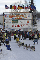 William Kleedehn Willow restart Iditarod 2008.