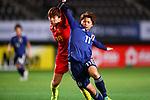 (L-R) <br /> Zhang Rui (CHN), <br /> Mina Tanaka (JPN), <br /> DECEMBER 11, 2017 - Football / Soccer : <br /> EAFF E-1 Football Championship 2017 Women's Final match <br /> between Japan 1-0 China <br /> at Fukuda Denshi Arena in Chiba, Japan. <br /> (Photo by Naoki Nishimura/AFLO SPORT)