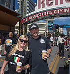 Jackie and Rich from Sacramento, CA during the Italian Festival in downtown Reno on Saturday, Oct. 7, 2017.