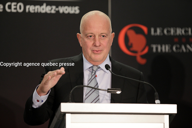 Dirk Van de Put, CEO, McCain Foods , delivers a speech to the Canadian Club of Montreal, September, 26, 2016.<br /> <br /> Photo : <br /> agence quebec presse