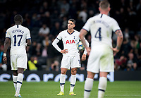 Erik Lamela of Spurs after Bayern Munich 7th goal during the UEFA Champions League group match between Tottenham Hotspur and Bayern Munich at Wembley Stadium, London, England on 1 October 2019. Photo by Andy Rowland.