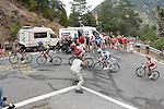 Christopher Froome, Alberto Contador, Joaquin Purito Rodriguez, Alejandro Valverde and Denis Menchov during the stage of La Vuelta 2012 between Lleida-Lerida and Collado de la Gallina (Andorra).August 25,2012. (ALTERPHOTOS/Paola Otero)