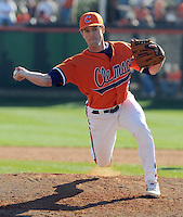Clinton McKinney closed out the opening game of the 2008 season between the Mercer Bears and Clemson Tigers at Doug Kingsmore Stadium in Clemson, S.C. Photo by:  Tom Priddy/Four Seam Images