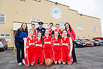Killarney Cougars .Front l-r Kelly Ahern, Ciara Griffin, Shelly Clifford, Anna O'Reilly and Grace Cahillane. Back l-r Liz Twomey, Colm Talbot, Inspector Tommy Sugrue, David Bartlett, Eoin Talbot and Helena Falvey. at the An Garda Síochána and Kerry Youth Service annual Basketball Blitz tournament at Castleisland Community Centre on Friday