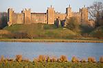 Framlingham Castle viewed over the Mere, Suffolk, England