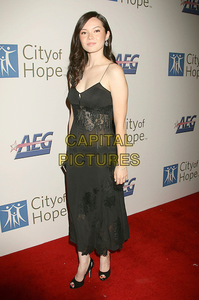 MARIA DIGBY.2007 Spirit Of Life Awards Dinner hosted by Hilary Duff held at the Pacific Design Center, West Hollywood, California, USA..September 27th, 2007.full length black dress sheer lace.CAP/ADM/RE.©Russ Elliot/AdMedia/Capital Pictures. *** Local Caption *** .