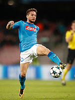 Football Soccer: UEFA Champions League Napoli vs Mabchester City San Paolo stadium Naples, Italy, November 1, 2017. <br /> Napoli's Dries Metens in action during the Uefa Champions League football soccer match between Napoli and Manchester City at San Paolo stadium, November 1, 2017.<br /> UPDATE IMAGES PRESS/Isabella Bonotto