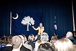 January 25, 2008. Columbia, SC.. Presidential candidate and former 1st lady, Hillary Clinton spoke to a gathered audience at an event sponsored by the South Carolina Democratic Party at the Jamil Temple in Columbia, SC.