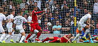 Nottingham Forest's Lewis Grabban scores his side's first goal  <br /> <br /> Photographer Alex Dodd/CameraSport<br /> <br /> The EFL Sky Bet Championship - Leeds United v Nottingham Forest - Saturday 10th August 2019 - Elland Road - Leeds<br /> <br /> World Copyright © 2019 CameraSport. All rights reserved. 43 Linden Ave. Countesthorpe. Leicester. England. LE8 5PG - Tel: +44 (0) 116 277 4147 - admin@camerasport.com - www.camerasport.com