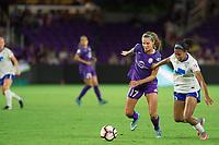 Orlando, FL - Saturday September 02, 2017: Dani Weatherholt, Margaret Purce during a regular season National Women's Soccer League (NWSL) match between the Orlando Pride and the Boston Breakers at Orlando City Stadium.