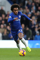 Willian of Chelsea in action during Chelsea vs Crystal Palace, Premier League Football at Stamford Bridge on 4th November 2018
