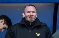 Michael Appleton Manager of Oxford United during the Sky Bet League 2 match between Oxford United and Bristol Rovers at the Kassam Stadium, Oxford, England on 17 January 2016. Photo by Andy Rowland / PRiME Media Images.