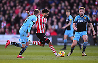Lincoln City's Bruno Andrade scores his side's second goal<br /> <br /> Photographer Andrew Vaughan/CameraSport<br /> <br /> The EFL Sky Bet League Two - Lincoln City v Stevenage - Saturday 16th February 2019 - Sincil Bank - Lincoln<br /> <br /> World Copyright © 2019 CameraSport. All rights reserved. 43 Linden Ave. Countesthorpe. Leicester. England. LE8 5PG - Tel: +44 (0) 116 277 4147 - admin@camerasport.com - www.camerasport.com