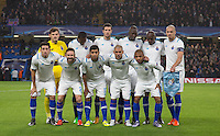 Porto line up for a team photo during the UEFA Champions League group G match between Chelsea and FC Porto at Stamford Bridge, London, England on 9 December 2015. Photo by Andy Rowland.