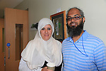 Lorraine oconnor<br /> Abdul haseeb<br /> at the Muslim day in the barbican centre.<br /> Picture:  Fran Caffrey / www.newsfile.ie