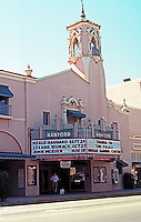 So. California: Hanford, CA. Fox Hanford Theatre on N. Irwin, facing Courthouse Square,  1929. Spanish Colonial Revival--Balch & Stanbery.