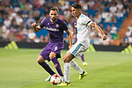 Real Madrid's Achraf and Fiorentina's Carlos Sanchez during XXXVIII Santiago Bernabeu Trophy at Santiago Bernabeu Stadium in Madrid, Spain August 23, 2017. (ALTERPHOTOS/Borja B.Hojas)