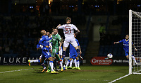 Bolton Wanderers' David Wheater scores his sides first goal  <br /> <br /> Photographer Rob Newell/CameraSport<br /> <br /> The EFL Sky Bet League One - Gillingham v Bolton Wanderers - Tuesday 14th March 2017 - MEMS Priestfield Stadium - Gillingham<br /> <br /> World Copyright &copy; 2017 CameraSport. All rights reserved. 43 Linden Ave. Countesthorpe. Leicester. England. LE8 5PG - Tel: +44 (0) 116 277 4147 - admin@camerasport.com - www.camerasport.com