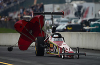 Oct. 6, 2012; Mohnton, PA, USA: NHRA top alcohol dragster driver Randy Meyer during the Auto Plus Nationals at Maple Grove Raceway. Mandatory Credit: Mark J. Rebilas-