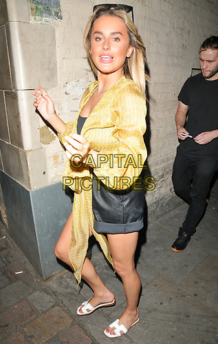 """Amber Davies at the """"9 To 5 The Musical"""" theatre new cast change stage door departures, Savoy Theatre, The Strand, London, England, UK, on Thursday 04th July 2019.<br /> CAP/CAN<br /> ©CAN/Capital Pictures"""