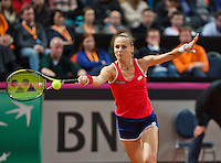 Februari 07, 2015, Apeldoorn, Omnisport, Fed Cup, Netherlands-Slovakia,  Magdaléna Rybáriková (SLO)<br /> Photo: Tennisimages/Henk Koster