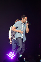 Jeff Timmons of 98 Degrees performs during The Package Tour 2013, BB&T Center, Sunrise, FL, June 22, 2013