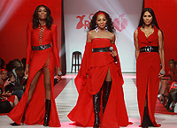 NEW YORK, NY February 08, 2018:Vocalists Cindy Herron-Braggs, Terry Ellis and Rhona Bennett of En Vogue attend  American Heart Association's® Go Red For Women® Red Dress Collection® 2018 at Hammerstein Ballroom in New York. February 08, 2018. Credit:RW/MediaPunch