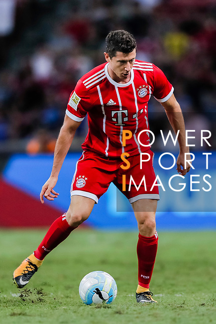 Bayern Munich Forward Robert Lewandowski in action during the International Champions Cup match between Chelsea FC and FC Bayern Munich at National Stadium on July 25, 2017 in Singapore. Photo by Marcio Rodrigo Machado / Power Sport Images
