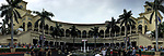 HALLANDALE BEACH, FL - JANUARY 27: A view of the paddock on Pegasus World Cup Invitational Day at Gulfstream Park Race Track on January 27, 2018 in Hallandale Beach, Florida. (Photo by Scott Serio/Eclipse Sportswire/Getty Images)