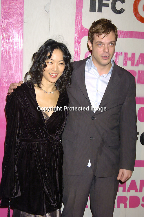 Jessica Yu and Jonathan Caouette..at The 14th Annual Gotham Awards Gala presented by IFP/New York on December 1, 2004 at Pier Sixty at Chelsea Piers...Photo by Robin Platzer, Twin Images