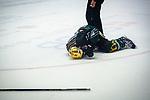 Topscorer Matt MCKNIGHT (#39 Bietigheim Steelers) \verletzt auf dem Eis beim Spiel in der DEL2, Bietigheim Steelers (dunkel) -  SC Riessersee (hell).<br /> <br /> Foto &copy; PIX-Sportfotos *** Foto ist honorarpflichtig! *** Auf Anfrage in hoeherer Qualitaet/Aufloesung. Belegexemplar erbeten. Veroeffentlichung ausschliesslich fuer journalistisch-publizistische Zwecke. For editorial use only.
