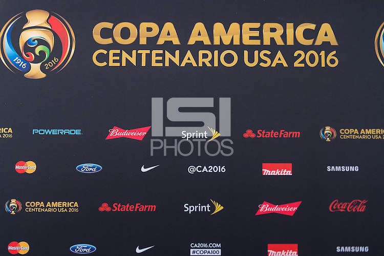 Pasadena, CA - Thursday June 09, 2016: COPA America Sponsors during a Copa America Centenario Group C match between Mexico (MEX) and Jamaica (JAM) at Rose Bowl Stadium.