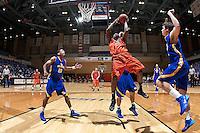 SAN ANTONIO, TX - OCTOBER 31, 2013: The Southeastern Oklahoma State University Savage Storm versus the University of Texas at San Antonio Roadrunners Men's Basketball Team at the UTSA Convocation Center. (Photo by Jeff Huehn)