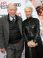 12 November 2017 - Hollywood, California - Donald Sutherland, Helen Mirren. &quot;The Leisure Seeker&quot; AFI FEST 2017 Screening held at at the Egyptian Theatre.<br /> CAP/ADM/FS<br /> &copy;FS/ADM/Capital Pictures