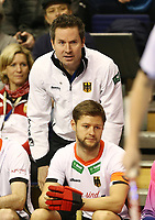 Trainer Stefan Kermas, Martin Haener<br /> / Sport / Hockey Hnhockey / World Championships Weltmeisterschaft  /  2017/2018 / 07.02.2018 / GER BRGermany vs. Kasachstan  *** Local Caption *** © pixathlon<br /> Contact: +49-40-22 63 02 60 , info@pixathlon.de
