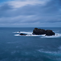 Coastal rocks in stormy sea, Butt of Lewis, Isle of Lewis, Scotland