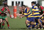 Taula gets his pass away. Counties Manukau Premier Club Rugby, Waiuku vs Patumahoe played at Rugby Park, Waiuku on the 8th of April 2006. Waiuku won 18 - 15