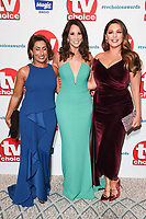 LONDON, UK. September 10, 2018: Saira Khan, Andrea McLean &amp; Kelly Brook at the TV Choice Awards 2018 at the Dorchester Hotel, London.<br /> Picture: Steve Vas/Featureflash