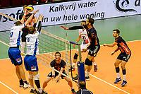 GRONINGEN - Volleybal, Lycurgus - Achterhoek Orion, final playoff 1 seizoen 2018-2019,  21-04-2019, Orion speler Joris Marcelis slaat de bal over het blok