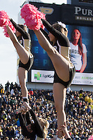 Purdue Cheerleaders. The Michigan Wolverines defeated the Purdue Boilermakers 44-13 on October 6, 2012 at Ross-Ade Stadium in West Lafayette, Indiana.