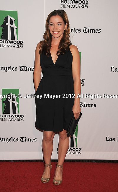 BEVERLY HILLS, CA - OCTOBER 22: Marguerite Moreau arrives at the 16th Annual Hollywood Film Awards Gala presented by The Los Angeles Times held at The Beverly Hilton Hotel on October 22, 2012 in Beverly Hills, California.