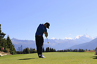 Andy Sullivan (ENG) tees off the 7th tee during Sunday's Final Round 4 of the 2018 Omega European Masters, held at the Golf Club Crans-Sur-Sierre, Crans Montana, Switzerland. 9th September 2018.<br /> Picture: Eoin Clarke | Golffile<br /> <br /> <br /> All photos usage must carry mandatory copyright credit (&copy; Golffile | Eoin Clarke)