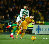 4th March 2020; Almondvale Stadium, Livingston, West Lothian, Scotland; Scottish Premiership Football, Livingston versus Celtic; Nir Bitton of Celtic collides with Steven Lawless of Livingston