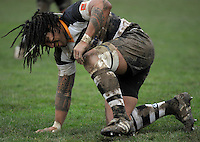 Injured All Black Ma'a Nonu, who played for Oriental-Rongotai. Wellington Club Rugby - Jubilee Cup, Upper Hutt v Oriental-Rongota at Maidstone Park, Upper Hutt, Wellington, Saturday, 26 June 2010. Photo: Dave Lintott/lintottphoto.co.nz