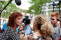 "The Oscar-winning actress Susan Sarandon visited to day the ""Occupy Wall Street"" movement, while they continued for an 11th day to hold peaceful protests against the economic system around Wall Street  in Zuccotti Park New York September 27 , 2011.VP/Kena Betancur"