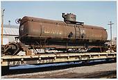 3/4 view of White Pass tank car #50 at Alamosa.<br /> C&amp;TS  Alamosa, CO